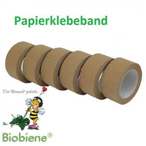 Packbiene® Papierklebeband 50mmx50m Braun