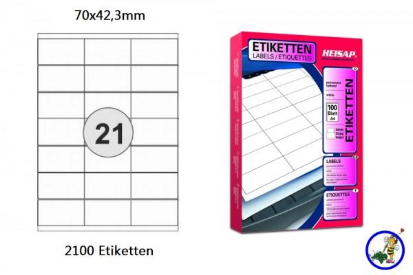 Druckeretiketten HEI013