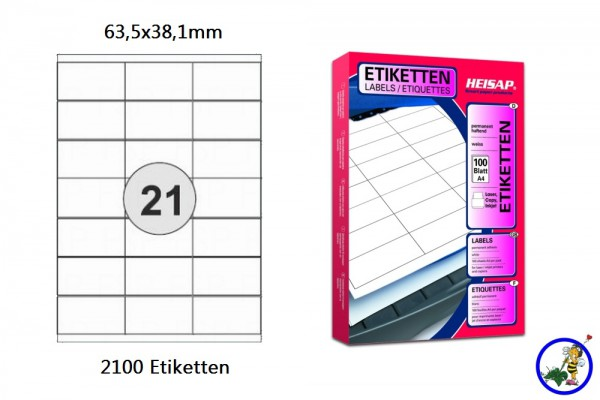Drucker-Etikett HEI006