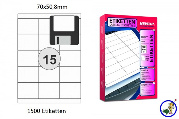 Druckeretikett HEI014